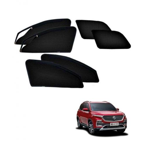 MG Hector Car Zipper Magnetic Window Sun Shades Set Of 6