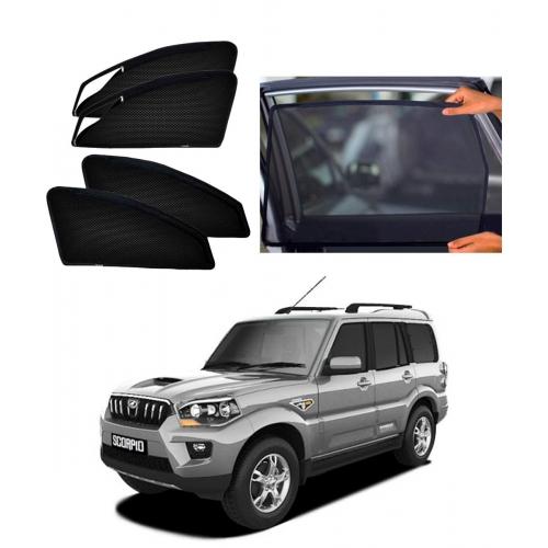 Mahindra New Scorpio Car Zipper Magnetic Window Sun Shades Set Of 6