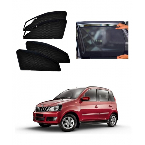 Mahindra Quanto Car Zipper Magnetic Window Sun Shades Set Of 6