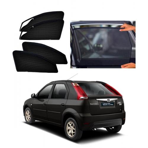 Mahindra Verito Vibe Car Zipper Magnetic Window Sun Shades Set Of 4