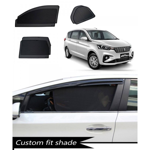 Maruti New Ertiga 2018 Custom Fit Car Window Fixed Sun Shades - Set of 4