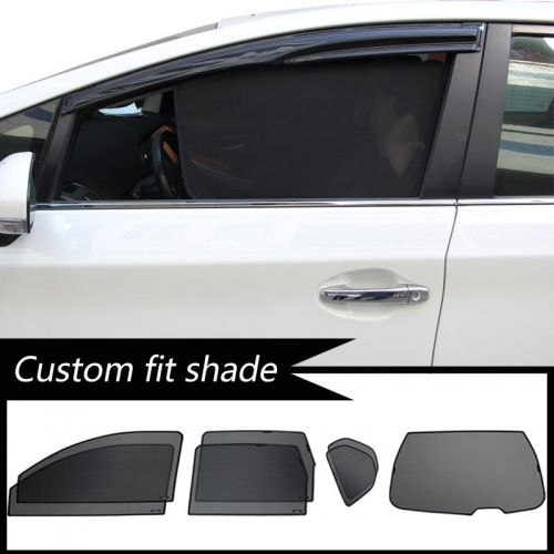 Maruti New Ertiga 2018 Custom Fit Car Window Fixed Sun Shades - Set of 4