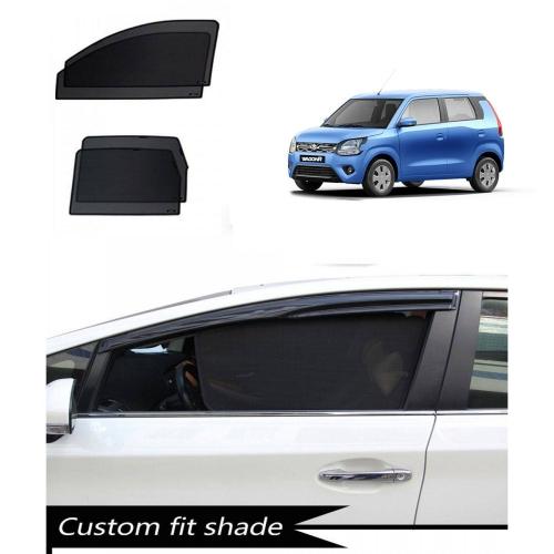 Maruti New Wagon R Custom Fit Car Window Fixed Sun Shades - Set of 4