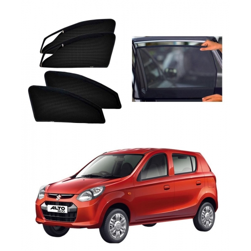 Maruti Suzuki Alto 800 Car Zipper Magnetic Window Sun Shades Set Of 4