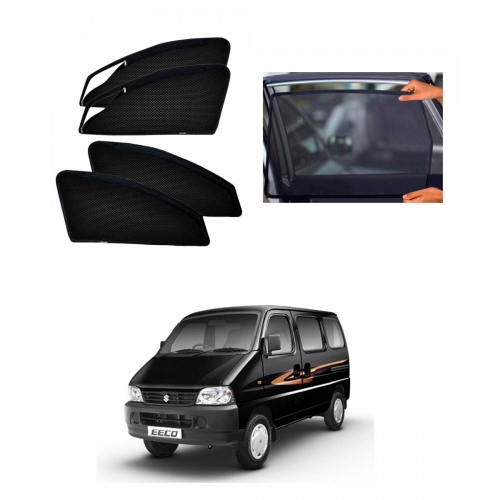 Maruti Suzuki Eeco Car Zipper Magnetic Window Sun Shades Set Of 4