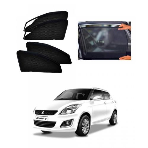 Maruti Suzuki New Swift Car Zipper Magnetic Window Sun Shades Set Of 4