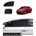 Skoda Rapid Custom Fit Car Window Fixed Sun Shades - Set of 4