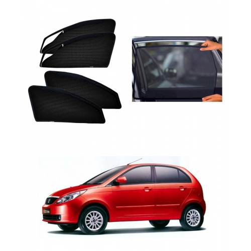 Tata Indica Vista Car Zipper Magnetic Window Sun Shades Set Of 4