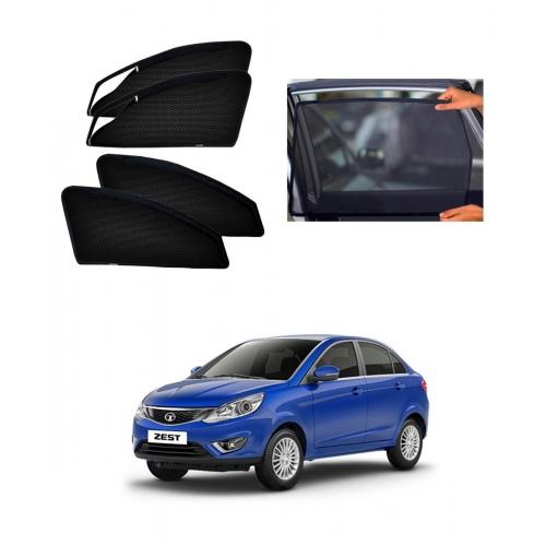 Tata Zest Car Zipper Magnetic Window Sun Shades Set Of 4