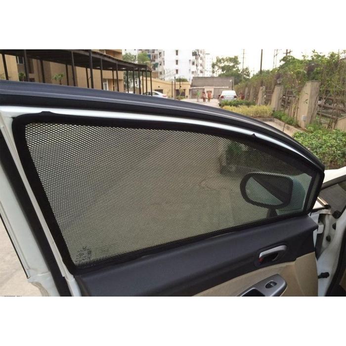 Toyota Glanza Car Zipper Magnetic Window Sun Shades Set Of 4