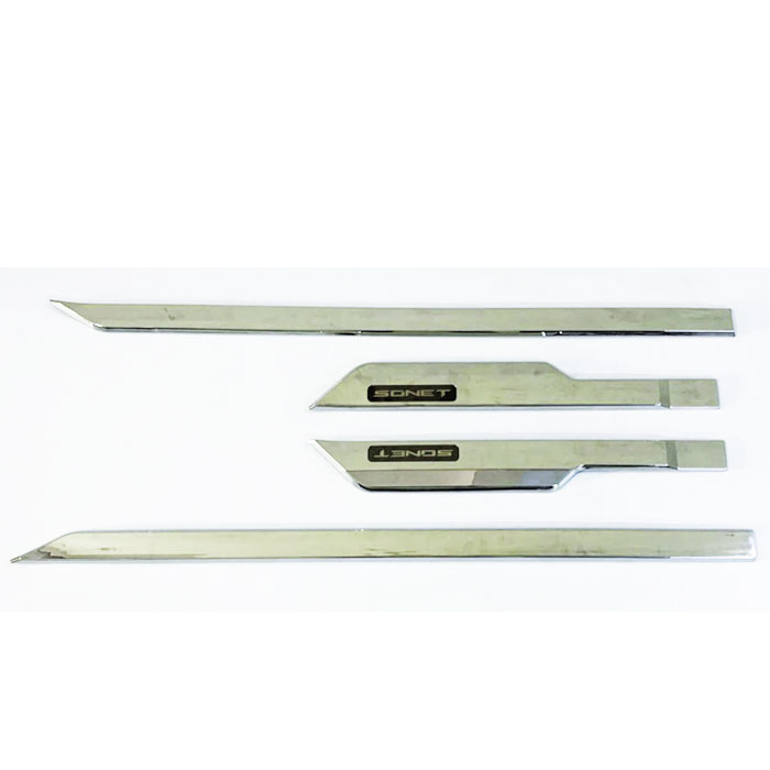 Kia Sonet Chrome Door Side Beading in ABS Material(Set Of 4Pcs.)