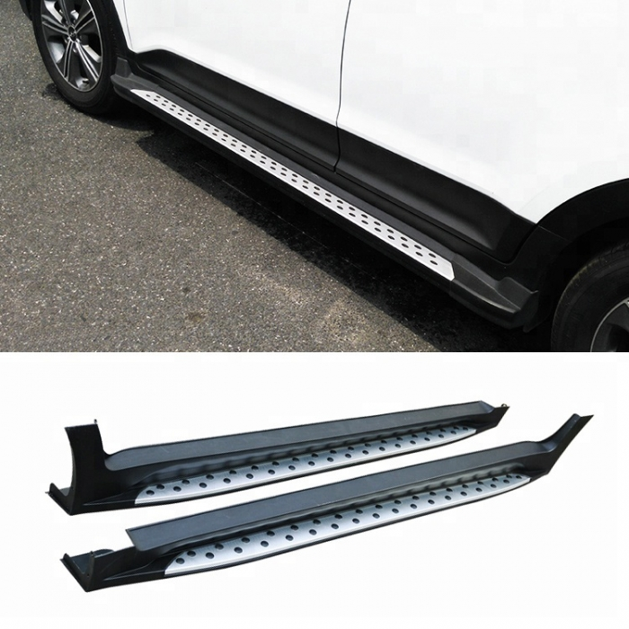 Hyundai Creta 2015 Side Foot Stepper in ABS Stainless Steel Integrated Metal Reinforced