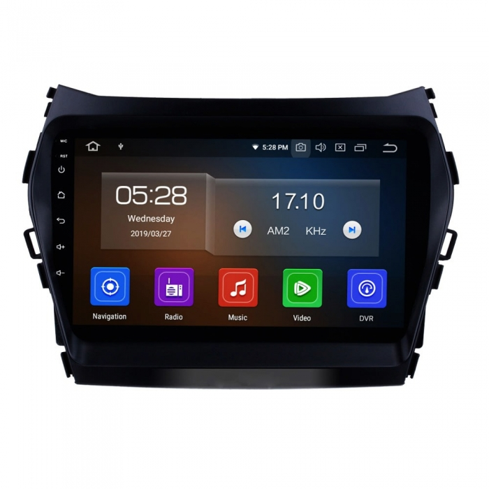 Hyundai Santa Fe 9 Inches HD Touch Screen Smart Android Stereo (2GB, 16GB) with Stereo Frame By Carhatke