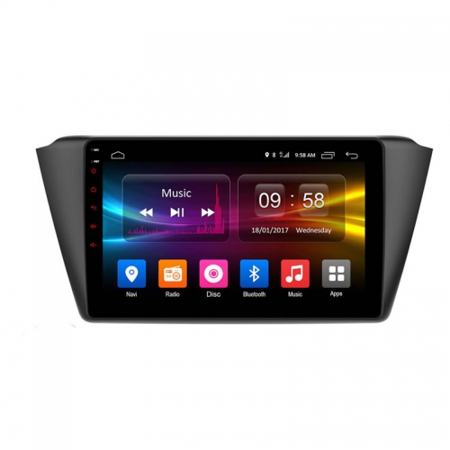 Skoda Fabia 9 Inches HD Touch Screen Smart Android Stereo (2GB, 16GB) with Stereo Frame By Carhatke
