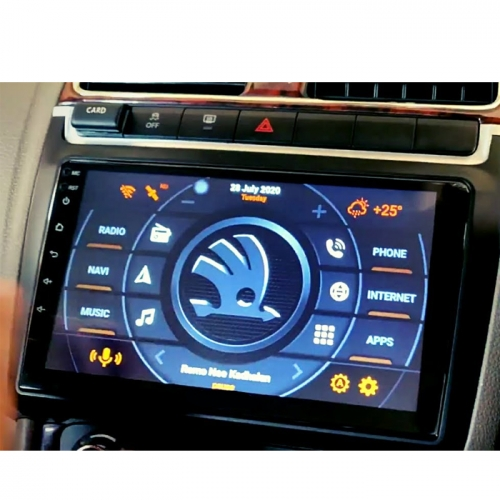 Skoda Rapid 9 Inches HD Touch Screen Smart Android Stereo (2GB, 16GB) with Stereo Frame By Carhatke