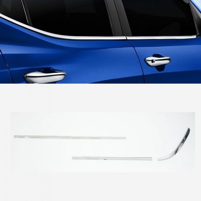 Nissan Sunny Lower Window Chrome Garnish Trims (Set Of 6Pcs.)