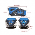 Universal Non-Slip Manual Car Pedals kit Pad Covers for All Cars in Blue Color (Set of 3Pcs)