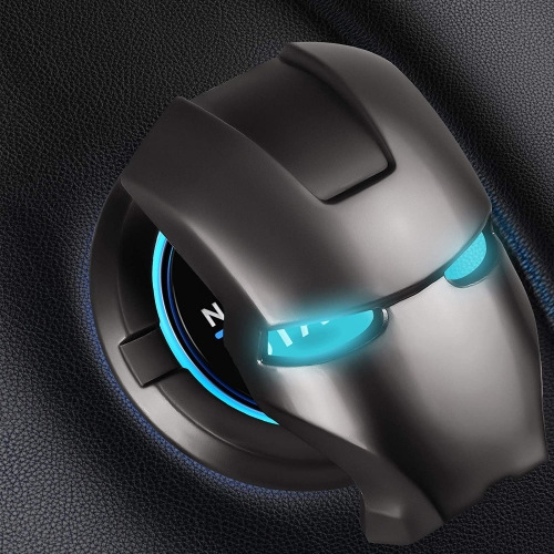 Aluminum Alloy Car Push Start Stop Button Ring Cover Cap Iron Man Style Universal  Car Button Decoration Ring