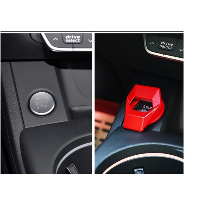 Aluminum Alloy Car Push Button Start Stop Push Button Ring Cover Cap Lamborghini Style for Interior Decoration
