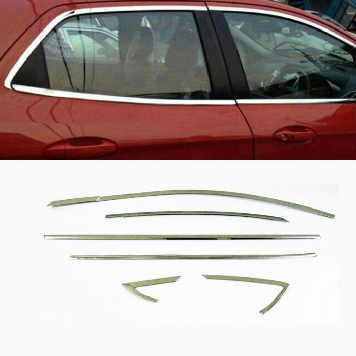 Hyundai Verna 2020 Full Window Chrome Garnish Trims (Set Of 12Pcs.)