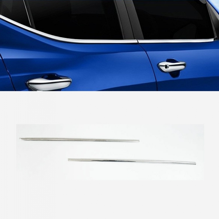 Maruti Suzuki WagonR Lower Window Chrome Garnish Trims (Set Of 4Pcs.)